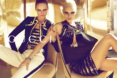 Abbey Lee Kershaw & Karmen Pedaru | Mert & Marcus #photography | Gucci S/S '12 campaign