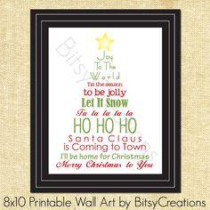Printable Christmas Subway art by BitsyCreations