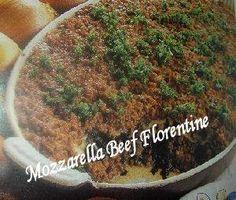 Mozzarella Beef Florentine (spinazie Ovenschotel ) recept   Smulweb.nl