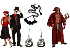 halloween day costumes and gemstone jewelry