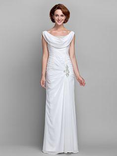 LAN TING BRIDE Pouzdrové Větší velikosti Malé Šaty pro matku nevěsty - Retro inspirované Na zem Bez rukávů Šifón - Korálky Knoflíky - EUR €103.39 ! ŽHAVÝ výrobek! Žhavý výrobek za neuvěřitelně nízkou cenu je nyní ve výprodeji! Přijďte se podívat i na ostatní podobné výrobky. Získejte skvělé slevy, odměny a mnoho dalšího za každý nákup u nás!