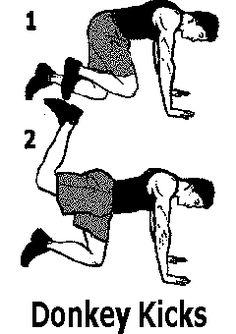 exercice de musculation pour les fesses Donkey kicks