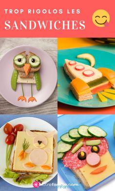 """""""Pas faim…"""", comment ça pas faim ? Pour ouvrir l'appétit de votre enfant, l'essentiel est de jouer la carte de la fantaisie et de lui proposer des idées rigolotes. Voici des idées de sandwiches vraiment pas comme les autres ! Jouer, Voici, Sandwiches, Tacos, Mexican, Animal, Ethnic Recipes, Dinner Plates, Animaux"""