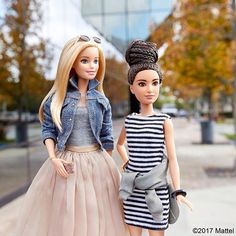 WEBSTA @ barbiestyle - We've added a twist to our weekend wear! Now off to seize the day. ☑️ #barbie #barbiestyle