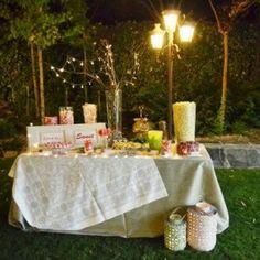Candy Bar en jardín para la boda de L&J