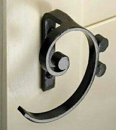 Bass clef cabinet handles