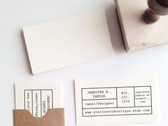 Personalised business card stamps: Ideal for any business man or lady with a crafty bent.