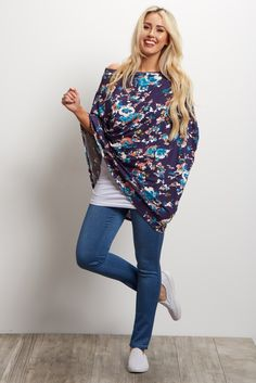 This floral nursing cover will be the perfect addition to your wardrobe this season as this versatile piece doubles as an infinity scarf. With a lightweight material, this cover makes nursing easy, comfortable, and stylish!