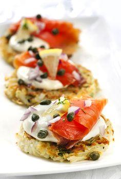 potato pancake salmon