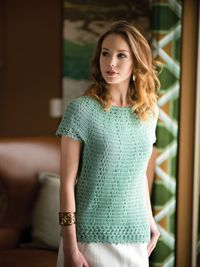 Sea Glass #Tunic - A classic top from Love of #Crochet magazine