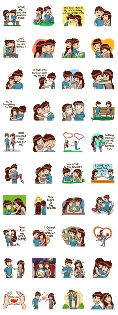 Romantic Moments – LINE stickers Cartoon Couple Photos, Cute Couple Cartoon, Anime Love Couple, Cute Drawings Of Love, Cute Couple Drawings, Love Png, Cute Couple Wallpaper, Cute Love Cartoons, Romantic Moments