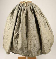 Petticoat  Date: 1850s Culture: American Medium: silk, cotton