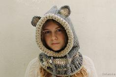 Come fare un cappuccio a crochet a forma di lupo