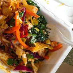 A rainbow of colour in my two-salad lunch order. Love the salad choice at CPC cafe at USyd. Great for busy people