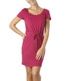 Pocket dress in raspberry