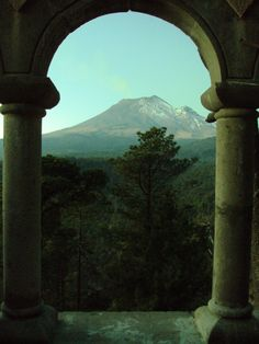 Popocatepetl Volcano, Puebla Mexico. Roberto's grandmother told him a love story about the two nearby volcanos.