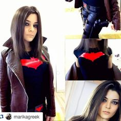 @marikagreek Fem Redhood preview #redhood #jasontodd #robin #batman #cosplay #dc #dccomics #makeup #girl #geekgirl #geek #fit #comics #comiccosplay #cosplaymakeup #cosplaygirl #genderbent #rule63 #leather #sexy #leatherpants #red #black #guns #longhair #brownhair #brunette