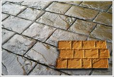 Concrete Stamps - What they are used for, stamped concrete patios, Stamped concrete driveways, stamped concrete designs, stamped concrete patterns.