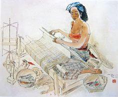 Lee Man Fong (1913-1988) adalah seorang pelukis Indonesia yang dilahirkan di Tiongkok. Dia dibesarkan dan mendapatkan pendidikan di... Voyage Bali, Indonesian Art, Wallpaper Pictures, Balinese, Goldfish, Chinese Art, Oil On Canvas, Design Art, Disney Characters