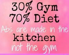 Fitness & nutrition, vol abs are made in the kitchen, not the gym Health And Wellness, Health Tips, Health Fitness, Health Care, Weight Loss Motivation, Fitness Motivation, Motivation Quotes, I Work Out, Hard Work