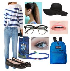 """If Harry Potter Houses Go To School - Ravenclaw"" by casyneecandy ❤ liked on Polyvore featuring Lingua Franca, Givenchy, Accessorize and JanSport"