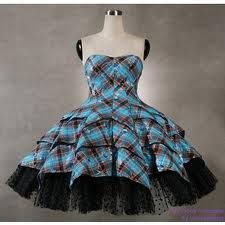 Tartan Princess Dress Punk Rave Gothic Lolita Prom Dress Large Q ...