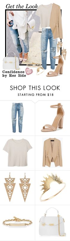 """""""Confidence by Her Side"""" by teennetwork ❤ liked on Polyvore featuring Levi's, MANGO, Zara, I-Sosceles You, Sarah & Sebastian, Hoorsenbuhs and Versace"""