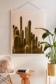 Wilder California Golden Hour Cactus Art Print - Urban Outfitters