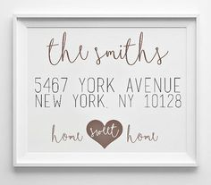 Please read entire description!  This personalized printable is the PERFECT gift for a new couple moving into their first home, a housewarming