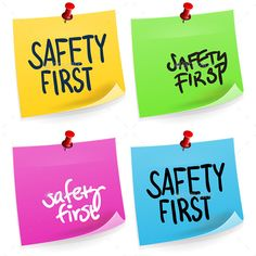 Safety First Sticky Note