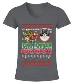 EXOTIC SHORTHAIR Merry Christmas Hoodie