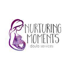 Pregnant Mother Logo Design Pregnant Woman by QuietForestDesign