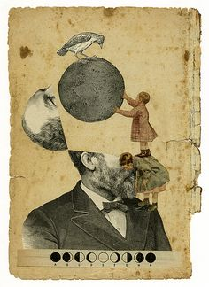 Lunático. I love this guy's work. Collage is one of my favorite mediums.