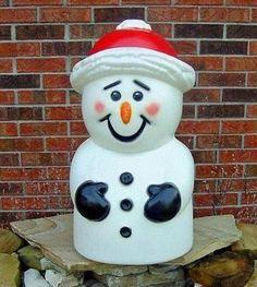 Snowman blow mold