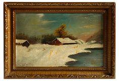 New England Winter Scene, 1915 on OneKingsLane.com