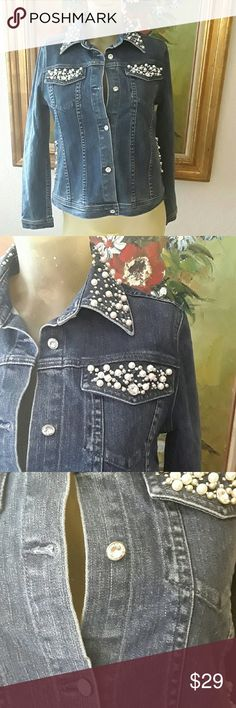 Spotted while shopping on Poshmark: Crystalli Jean jacket.! #poshmark #fashion #shopping #style #Crystalli #Jackets & Blazers