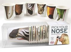 Ha the best! Pick Your Nose Party Animal Cups lol