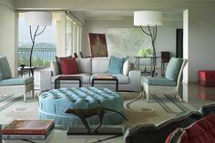 HUGE OTTOMAN        Geoffrey Bradfield   Luxury Interior Design   Mumbai Lakefront