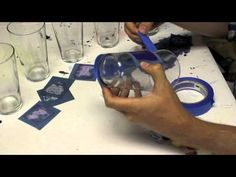 ▶ Screen Printing Glass with Homade Stencils and Delta Perm-enamel Glass Paint. - YouTube