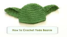 How to Crochet Yoda hat. DIY Yoda beanie. crochet beanie