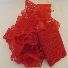 RED LACE TRIM Five Yard Length of Two Inch Wide by yoyosbijouterie, $1.00