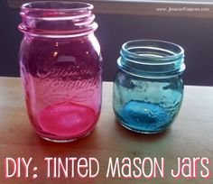 DIY: Tinted Mason Jars