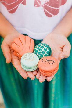 Little Mermaid wedding themed macarons!