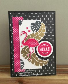 Card by Jan McQueen  (061016)  [Stampin' Up! (dies) Circle Framelits; (stamps) Pop of Paradise]