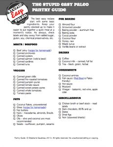 NEW! Stupid Easy Paleo Pantry Staples Guide...great for getting started with #Paleo. http://stupideasypaleo.com/resources/shopping-and-cooking-guides/ #glutenfree