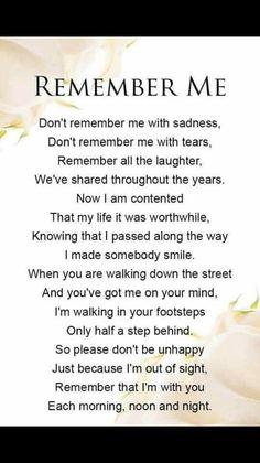 Remember me ....