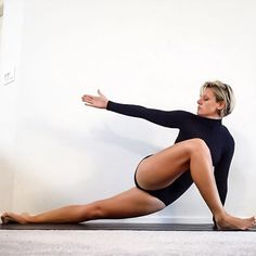 This is such a great IT band stretch. I notice a huge difference in my hips…
