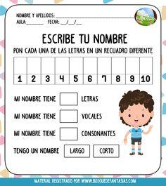 Spanish Fast For Kids Info: 6344518066 Preschool Education, Preschool Learning, Preschool Activities, Teaching Kids, Spanish Language Learning, Teaching Spanish, Spanish Lessons For Kids, Dual Language Classroom, Name Activities
