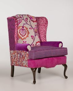 Reupholster Furniture, Chair Upholstery, Chair Fabric, Upholstered Furniture, Royal Furniture, Funky Furniture, Refurbished Furniture, Furniture Redo, Painted Furniture
