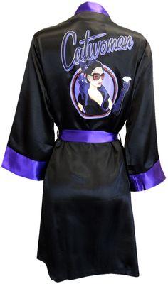 WebUndies.com DC Comics Catwoman Bombshell Satin Robe Clothing, Shoes & Jewelry - Women - women's belts - http://amzn.to/2kwF6LI